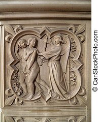 Adam and Eve - Paradise lost - Adam and Eve being cast out...