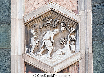 Adam and Eve working after the Fall by Andrea Pisano, 1334-...