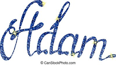 Adam name lettering tinsels - Vector Adam name lettering...