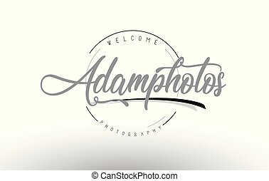 Adam Personal Photography Logo Design with Photographer...