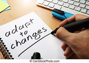 Adapt to changes written in a note.