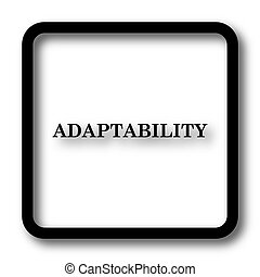 Adaptability icon, black website button on white background.