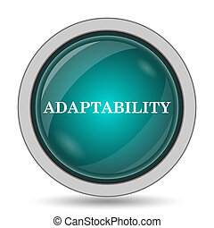 Adaptability icon, website button on white background.