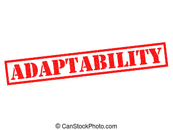ADAPTABILITY Rubber Stamp - ADAPTABILITY red Rubber Stamp ...