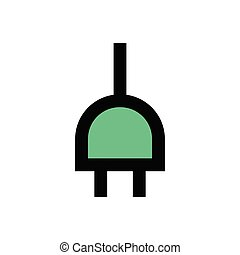 adapter  flat color icon