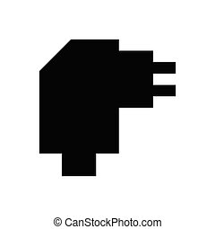 adapter  glyph flat icon