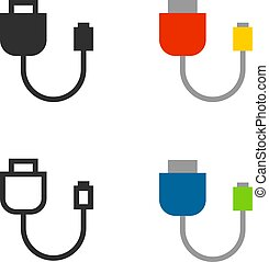 Adapter icons set