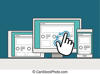 Adaptive web design on modern digital devices