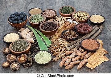adaptogen, selección, alimento