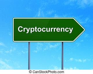 adatok, concept:, cryptocurrency, képben látható, út...
