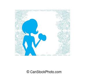 adattare, donna, esercitarsi