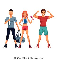 adattare, esercizio, persone