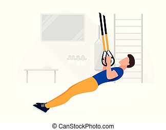 adattare, forza, lavorativo, bodyweight, trx, workout., ...