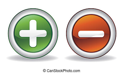 add and subtract icon - vector add and subtract icon