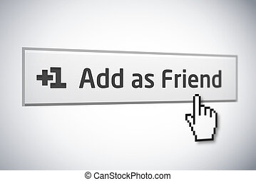 Add as Friend button 2 - Add as Friend button version 2 with...