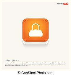 add Bag or purse icon Orange Abstract Web Button