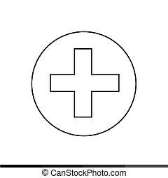 Add Button Icon Illustration design