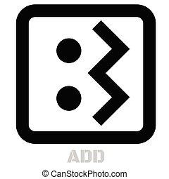 Add conceptual graphic icon. Design language element, ...