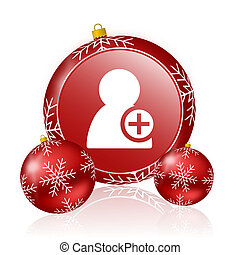 add contact christmas icon