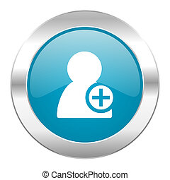 add contact internet blue icon