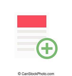 add  flat color icon
