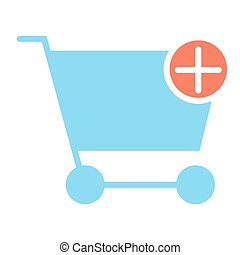 Add Items to Shopping Cart Pixel Perfect Vector Silhouette Icon 48x48. Simple Minimal Pictogram