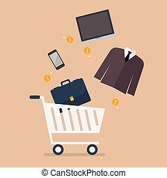 Add men clothing and accessories into cart