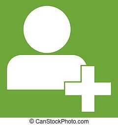 Add new user account icon green