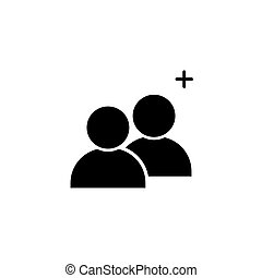 Add people icon symbol simple design