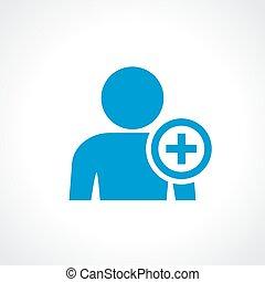 Add person to friend list icon