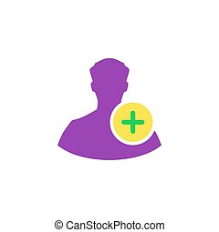 Add profile Icon Vector