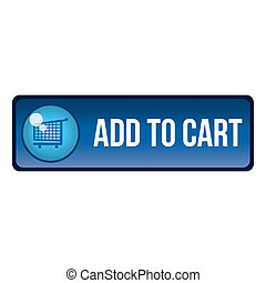 add to cart - a blue button with some text and a shopping...