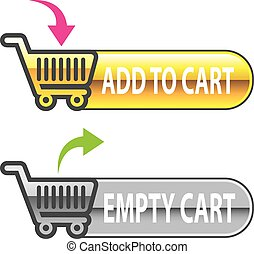 Add to Cart Button Empty Cart Button with shopping cart ...
