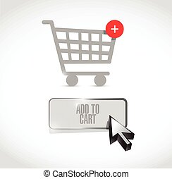add to cart button illustration design