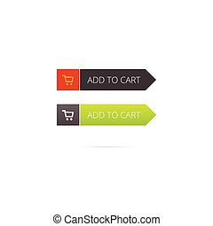 Add to cart button vector with shopping icon