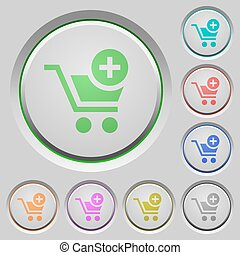 Add to cart push buttons