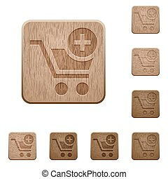 Add to cart wooden buttons
