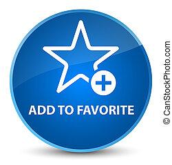Add to favorite elegant blue round button