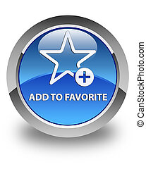 Add to favorite glossy blue round button