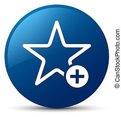 Add to favorite icon blue round button