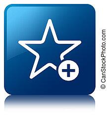 Add to favorite icon blue square button