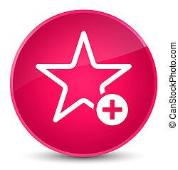 Add to favorite icon elegant pink round button