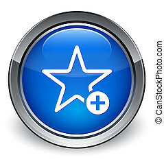 Add to favorite icon glossy blue button