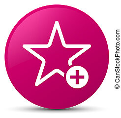 Add to favorite icon pink round button