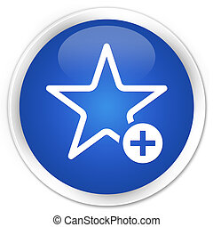 Add to favorite icon premium blue round button