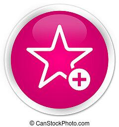 Add to favorite icon premium pink round button