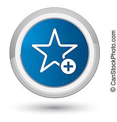 Add to favorite icon prime blue round button