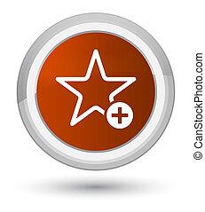Add to favorite icon prime brown round button