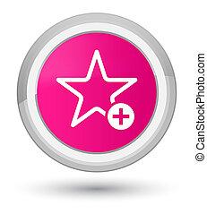 Add to favorite icon prime pink round button