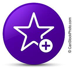 Add to favorite icon purple round button